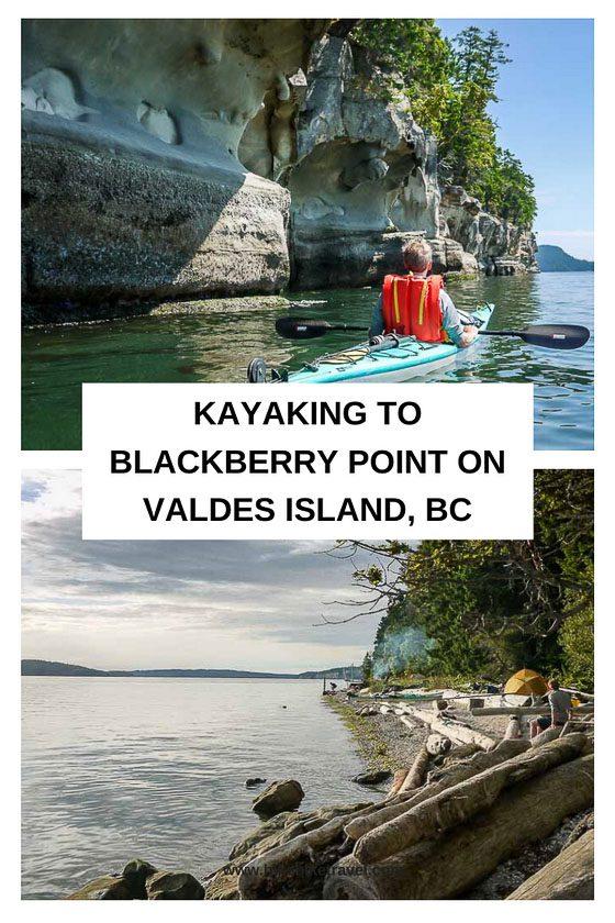 Kayaking to Blackberry Point on Valdes Island, BC