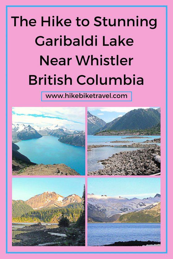 The hike to Garibaldi Lake near Whistler, BC
