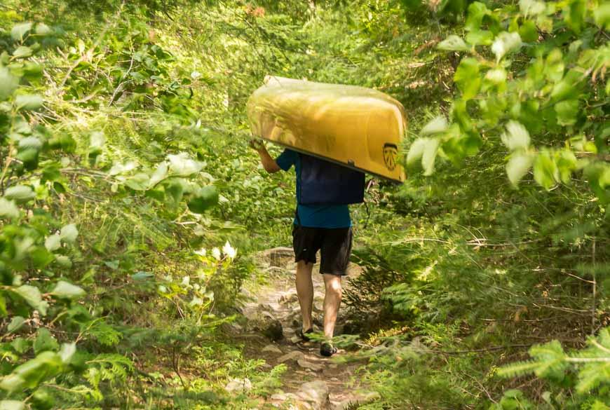 Hardcore adventure travel includes portaging in Quetico Provincial Park