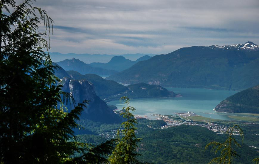 A View Of Squamish And Stawamus Chief - About 15 Minutes Into The Hike