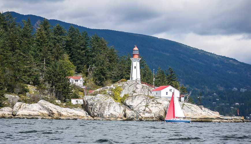 Kayaking past the Point Atkinson Lighthouse