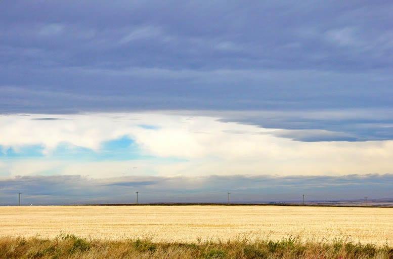 Big skies near Drumheller