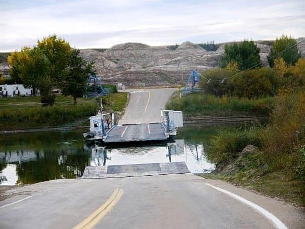 The Bleriot Ferry near Drumheller