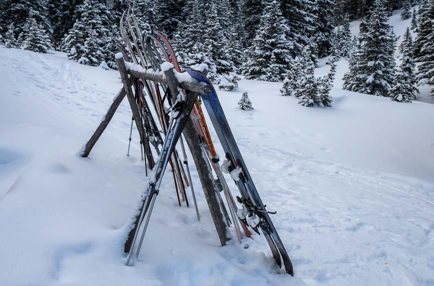 I skied in to Skoki Lodge on 25 year old skis