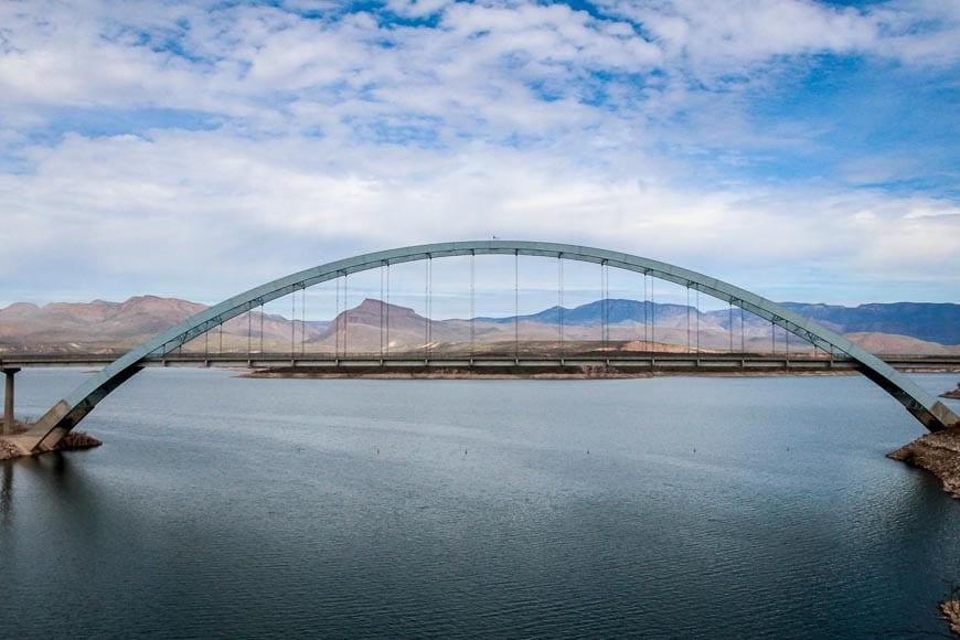 The Roosevelt Lake Bridge