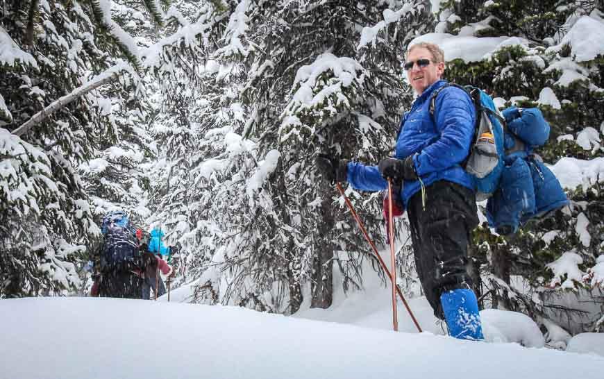 Deep snow makes for hard work skiing