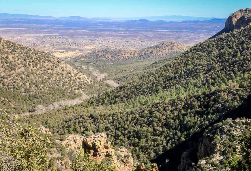 Hilly landscape near Ramsey Canyon Reserve