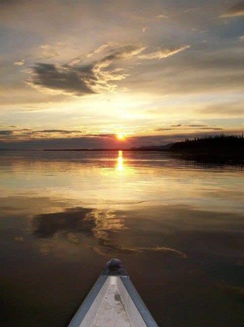 """Sunset over the Mackenzie River"""