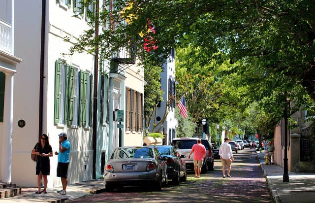 """Shady streets of historic Charleston"""
