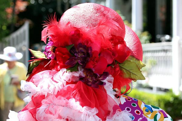 """""""Colourful hat sported by one of the docents on the garden tour"""""""