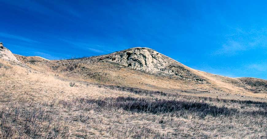 Beautiful deep blue skies are a hallmark of Alberta