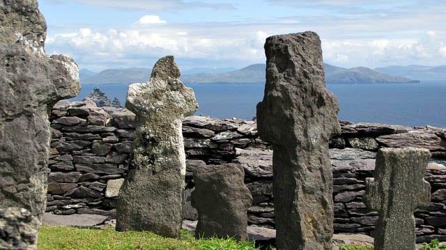 """Crosses near the top of Skellig Michael"""