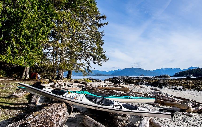 Beautiful campsite on Clark Island in the Broken Group of Islands