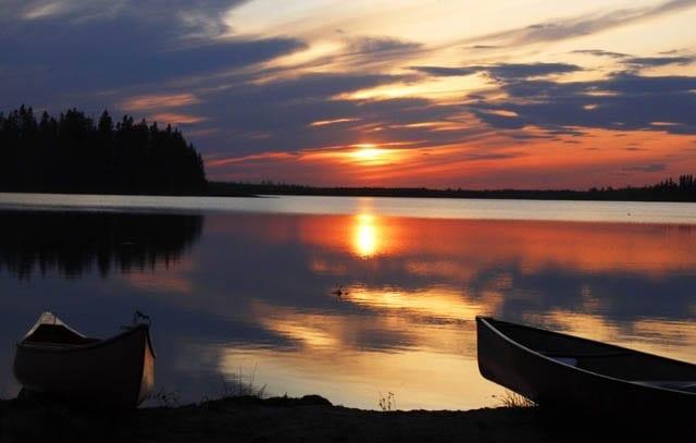 """""""Sunset at Elk Island National Park in summer"""""""