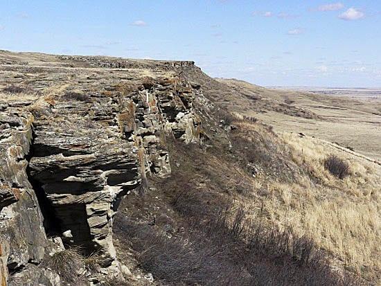 """UNESCO World Heritage Site - Head Smashed in Buffalo Jump in Alberta"""