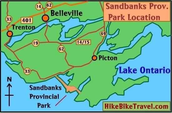 Sandbanks location map