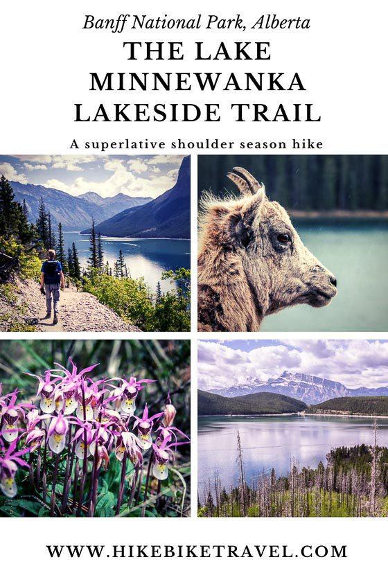 Lake Minnewanka lakeside hike in Banff National Park
