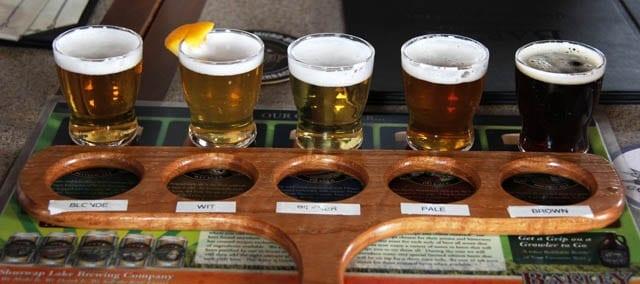 """""""A sampler of the Barley Brew Pub beer"""""""