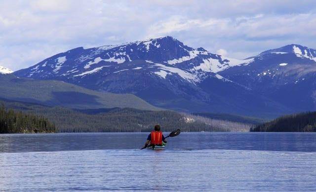 Kayaking Majestic Maligne Lake In Jasper National Park