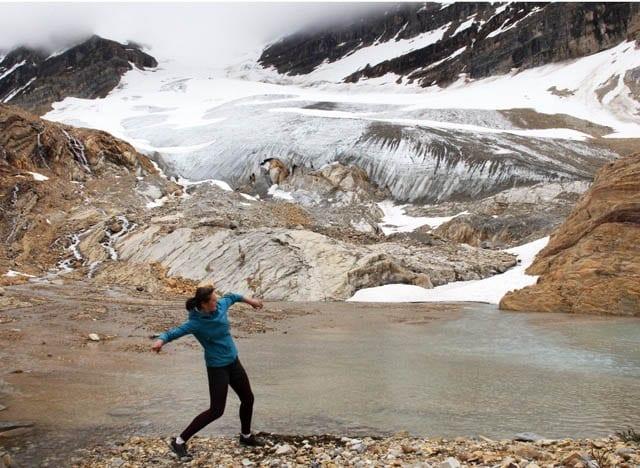 """""""Skipping rocks on a glacier fed lake"""""""