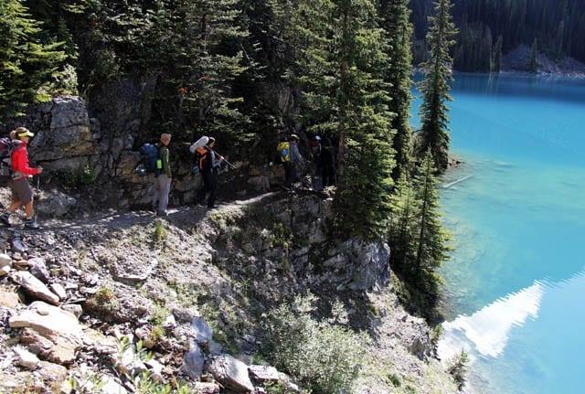 """Easy hiking above the shore of Lake O'Hara"""