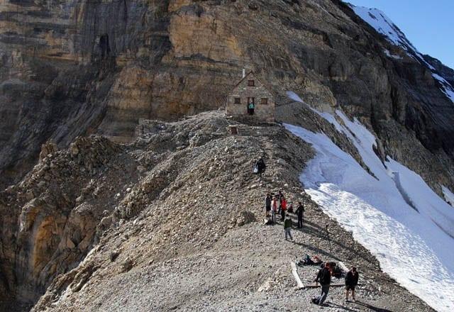 """Abbott Pass Hut - situated on the BC/Alberta border"""