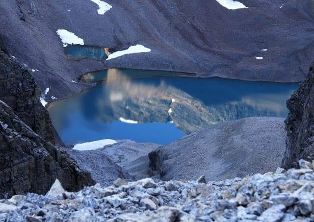 """Early morning reflection in Lake Oesa"""