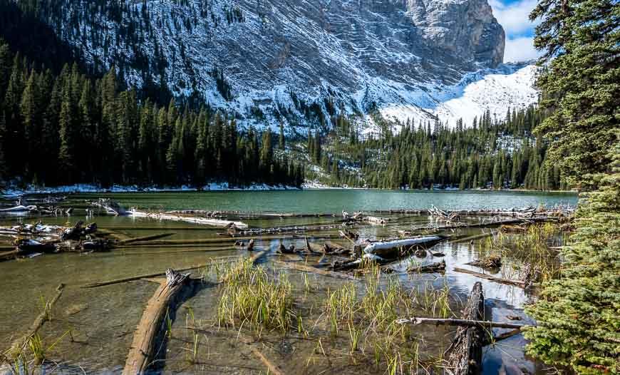On the Guinn Pass hike you walk past Lillian Lake
