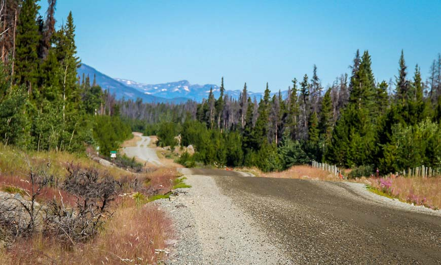It's a pretty drive to the trailhead along the road that takes you to Bella Coola