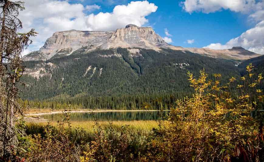 Views at the end of Emerald Lake