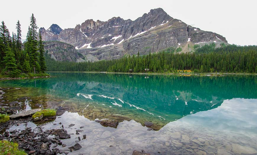 The hike to Lake Oesa starts along Lake O'Hara