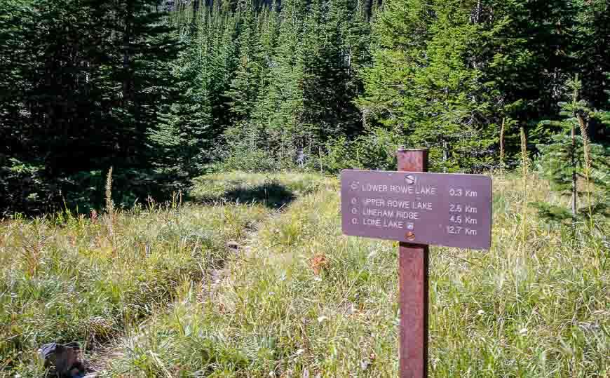 Good signage on the Lineham Ridge hike