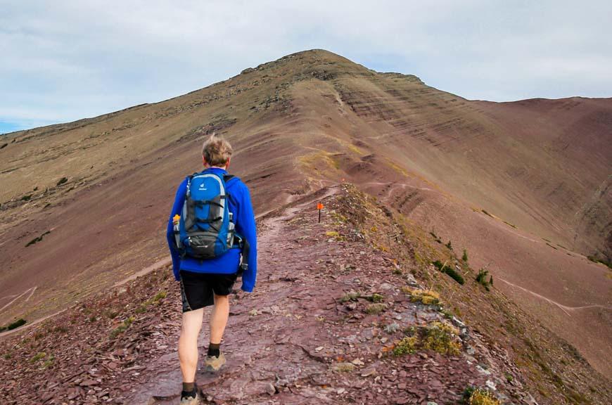 Walking the ridge through fabulous red rock