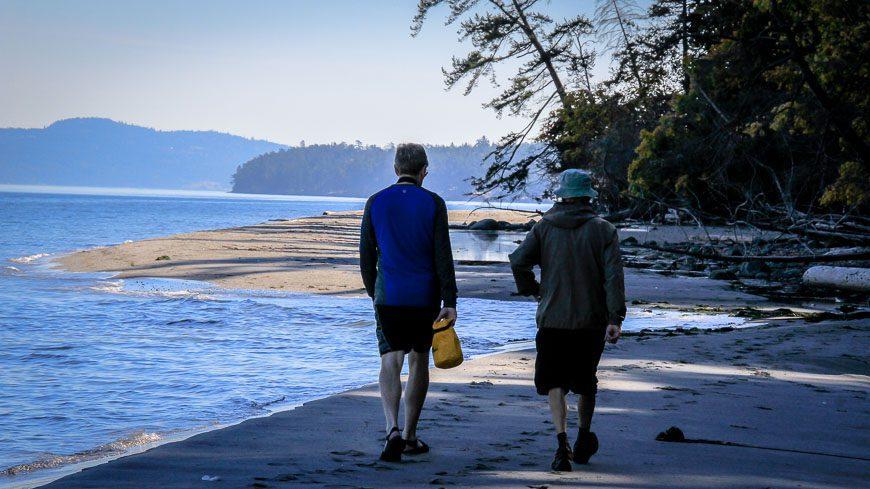 Exploring Sidney Spit on foot