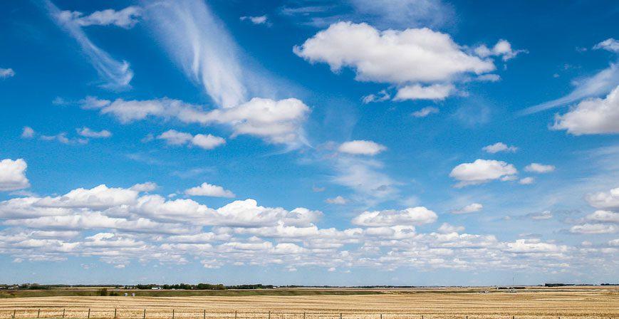 Big prairie skies