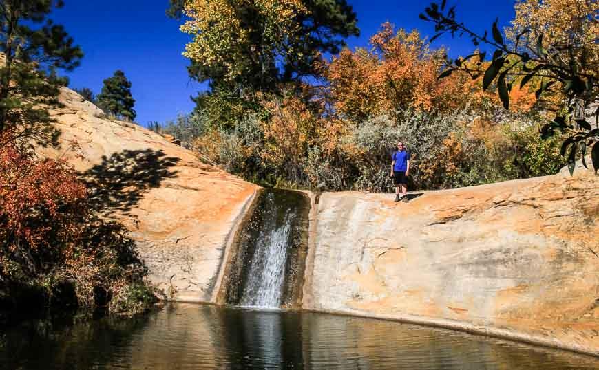 Pool at the top of Upper Calf Creek Falls