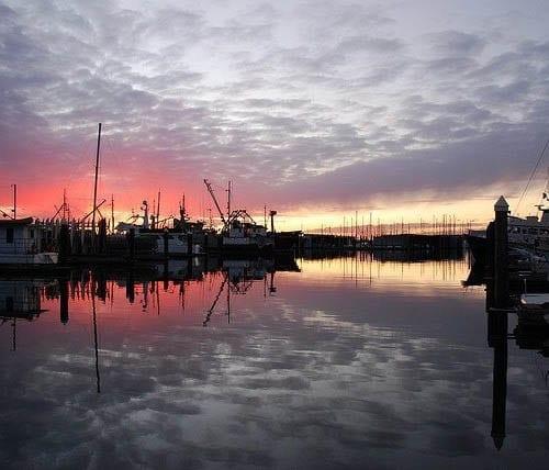 """Bellingham Harbor at sunset"""