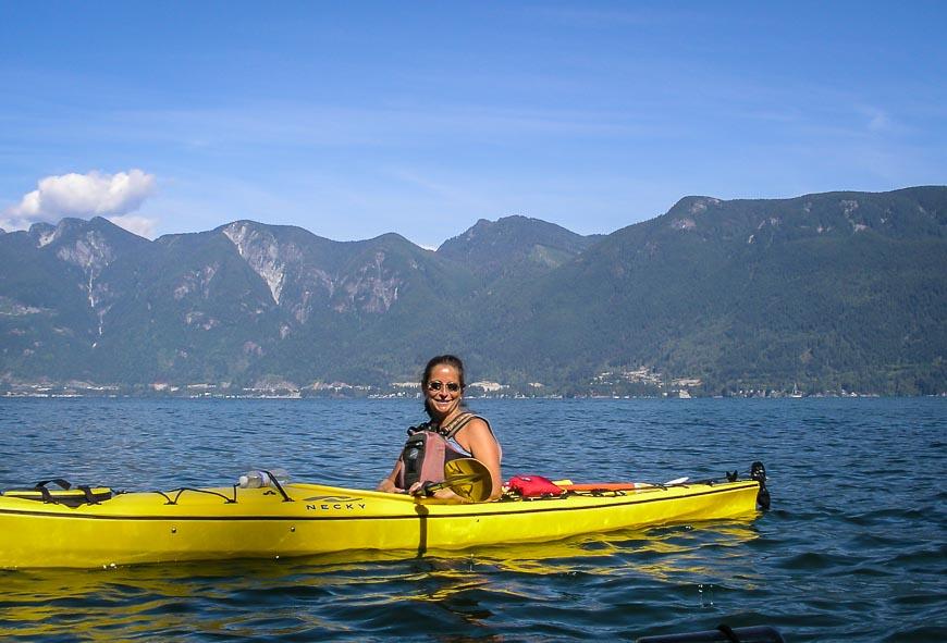 Lovely kayaking around the island