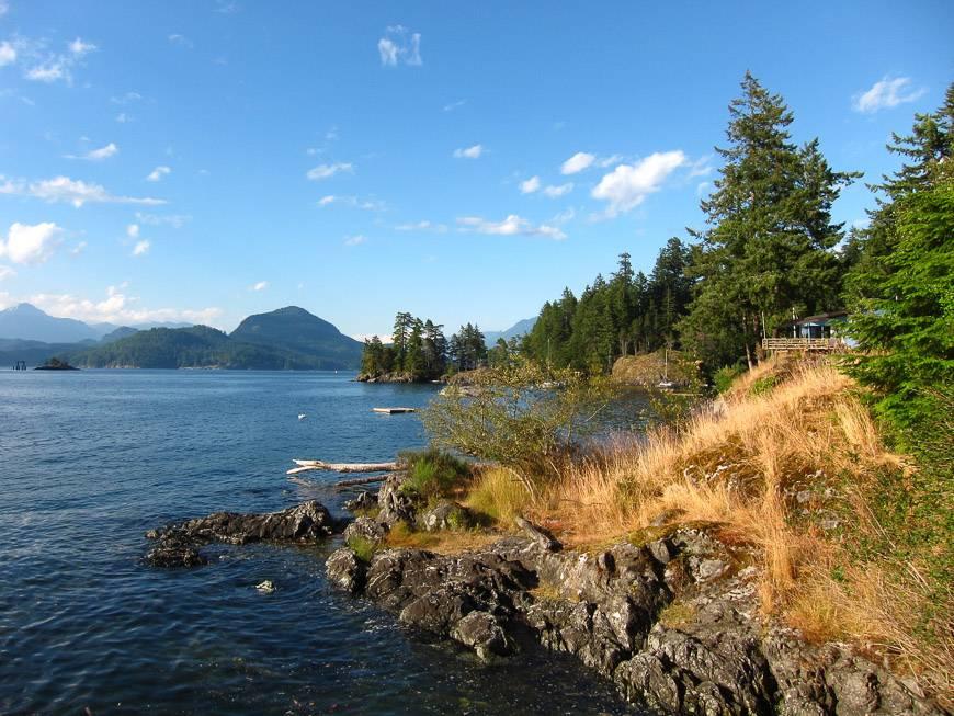 Wonderful coastal scenery around the island