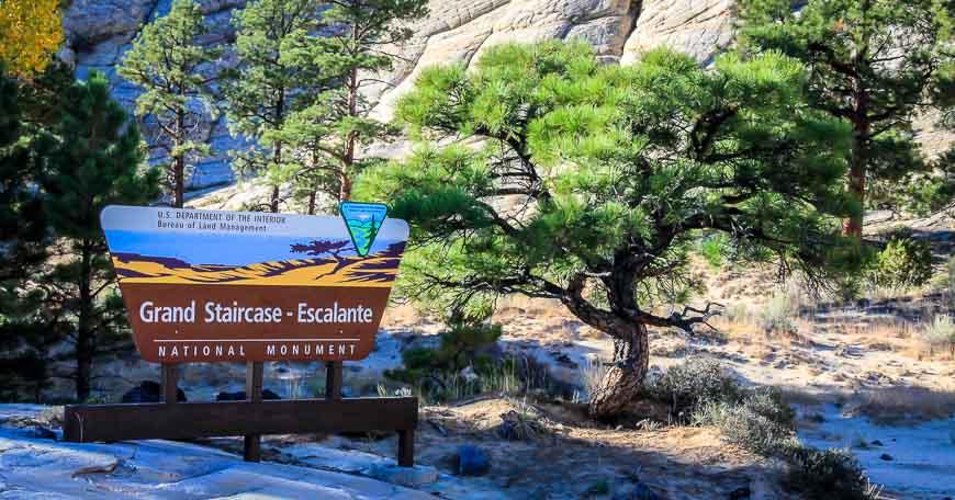 Welcome to Grand Staircase- Escalante sign