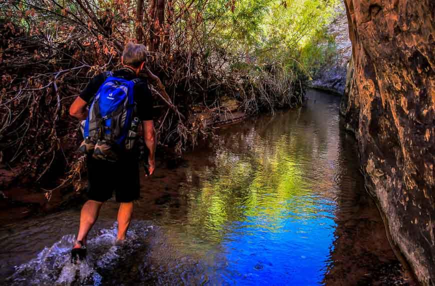 Wading the numbing waters of Deer Creek