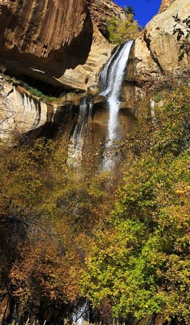 """First glimpse of Lower Calf Creek Falls"""