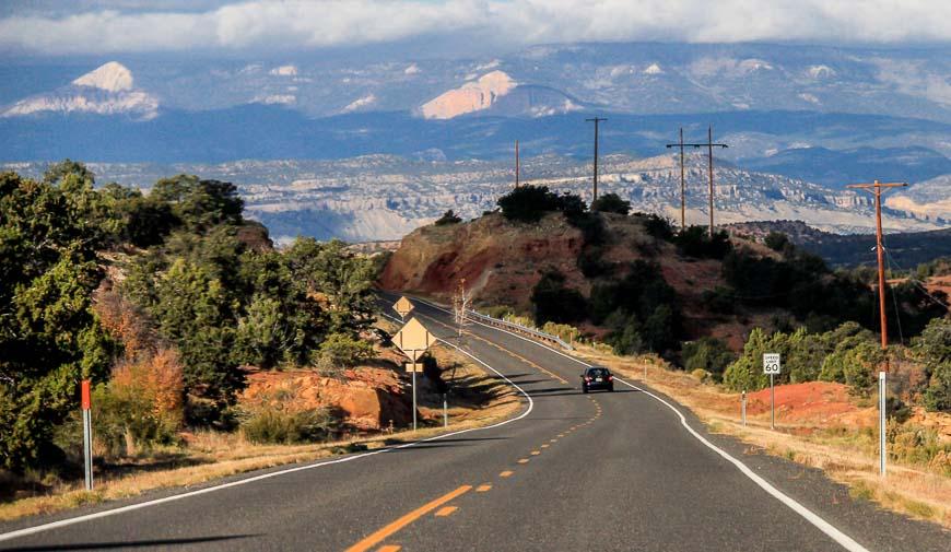 Beautiful landscape on the drive to Kodachrome Basin State Park