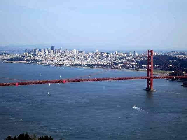 """Panoramic view of the Golden Gate Bridge"""