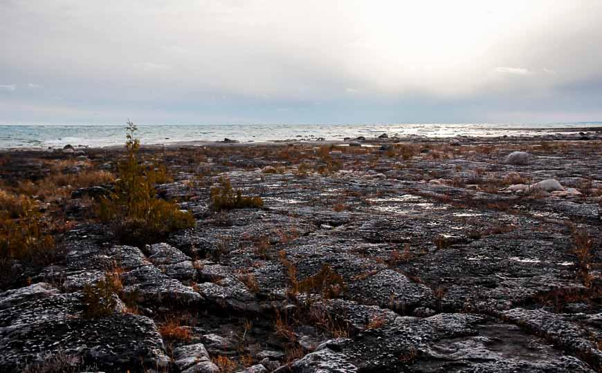 November skies over Lake Huron at Misery Bay Manitoulin Island