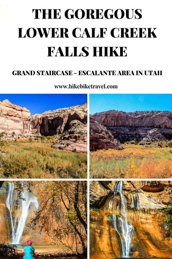 The beautiful Lower Calf Creek Falls hike to a waterfall in Utah