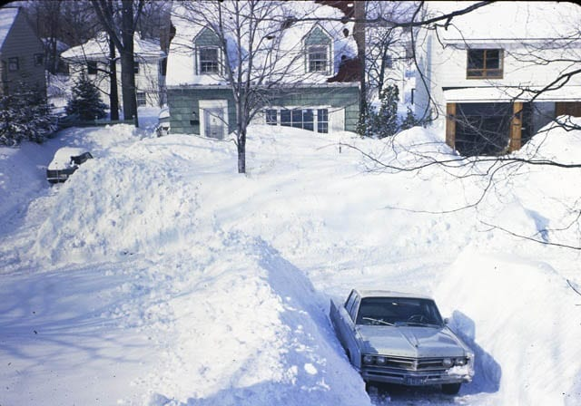 """My street in the winter of 1971"""
