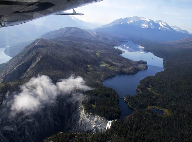 """Canada's 3rd highest waterfalls - Hunlun Falls from the air"""