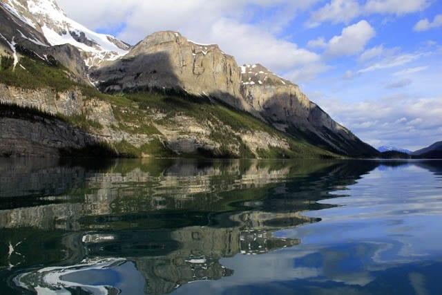 """Turquoise coloured Maligne Lake in Jasper National Park"""