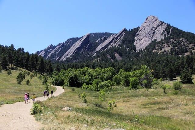 """Quintessential Boulder Flatirons view"""